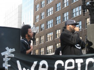 Boots Riley & Mistah Fab Address the Crowd