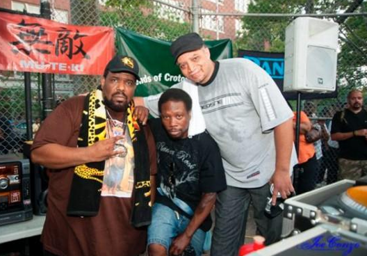 Bambaataa, Jazzy Jay & Red Alert photo: Joe Conzo
