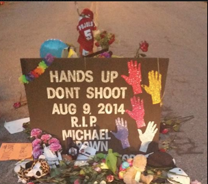 Ferguson Memorial Mike Brown